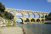 Roman Aquaduct Pont Du Gard, France.