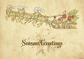 Santa flying in his sleigh