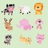 Animals Vector Character Design, Animals Set, Animals Collection poster