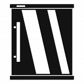 Mini Refrigerator Icon. Simple Illustration Of Mini Refrigerator Vector Icon For Web Design Isolated poster