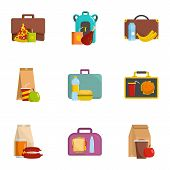 Luggage Icons Set. Cartoon Set Of 9 Luggage Vector Icons For Web Isolated On White Background poster