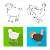 Isolated Object Of Breeding And Kitchen Symbol. Collection Of Breeding And Organic Vector Icon For S poster