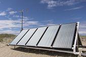 Sonnenkollektoren für Warmwasser