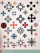 stock photo of maltese-cross  - crosses set - JPG