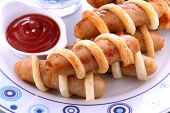 Pastry Chicken Sausages
