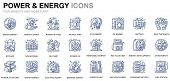 Simple Set Power Industry And Energy Line Icons For Website And Mobile Apps. Contains Such Icons As  poster