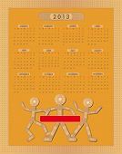 Calendar Sticking plaster Figure 2013