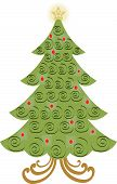Vector Swirl Christmas Tree