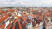 Panoramic View Of Prague From The Observation Deck Of The Old Town Hall. Czech Republic. poster