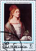 Postage stamp Ajman 1970 Self Portrait by Albrecht Durer