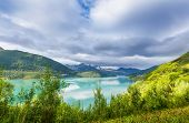 Picturesque landscapes of Northern Norway poster