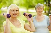 Mature females enjoying themselves leading healthy lifestyle