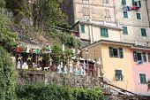 Tourist Village Of The Cinque Terre In Liguria In A Bay On The Sea In The Village Inhabited And Freq poster