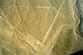 stock photo of geoglyph  - The Parrot one of the Nazca Lines in Peru and part of a UNESCO World Heritage Site - JPG