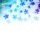 Blue Abstract Puzzle Background