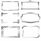 Iron, Silver Frames Isolated On The White Background