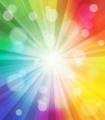 Colorful light effect background. Vector glowing illustration.