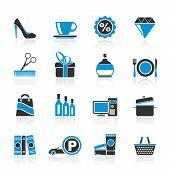 Ícones de compras e shopping