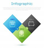 Set Line Slow Cooker , Toaster With Toasts And Electric Heater . Business Infographic Template. Vect poster