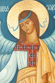 Anjo no ícone ortodoxo