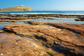 picture of poseidon  - Cape Sounion located 69 kilometres of Athens Greece  - JPG