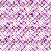 Diagonal Square Pattern Background - Geometrical Colorful Abstract Vector Design From Squares poster