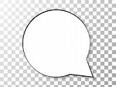 Speech Or Think Bubble Isolated On Transparent. Trendy Think Bubble In Flat Style. Modern Template F poster