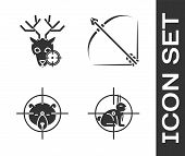 Set Hunt On Rabbit With Crosshairs, Hunt On Deer With Crosshairs, Hunt On Bear With Crosshairs And B poster