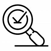 Magnifier Feedback Icon. Outline Magnifier Feedback Vector Icon For Web Design Isolated On White Bac poster