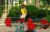 Kid Playing In Park