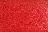 Red Ethnic Fabric Design