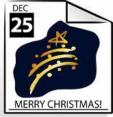 Merry Christmas Calendar Page
