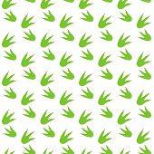 Dinosaur Seamless Pattern Dino Traces Background Dinosaur Print Green Color Fabric Design Wallpaper  poster