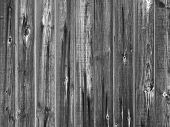 Monochrome Wooden Plank Fence