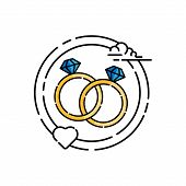 Ring Icon Isolated On White Background From Wedding Collection. Ring Icon Trendy And Modern Ring Sym poster