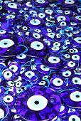 Traditional Turkish Eye-shaped Amulets (nazar Boncugu)
