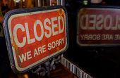 Sign On Closed Shop With The Words Sorry Were Closed Word poster