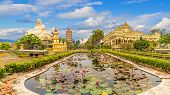 Landscape With Vinh Tranh Pagoda In My Tho, The Mekong Delta, Vietnam poster
