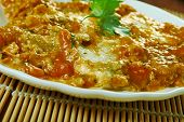 Mediterranean Style Sea Bass, Mediterranean-inspired Sauce Made From Tomatoes, White Wine, Fennel An poster