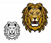 Lion Head Mascot. King Of Animal, African Safari, Sport Club Or Heraldic Vector Symbol. Savannah Wil poster