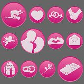 valentine days icon set gradient pictogram