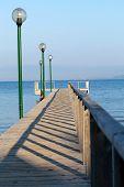 The wooden platform in Dardanelles.