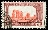Vintage Stamp From Tunisia