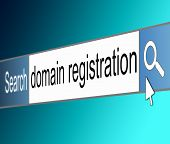 Domain Registration Concept.