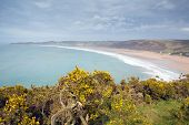 Woolacombe bay and beach Devon England