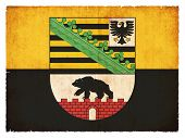 Grunge Flag Of Saxony-anhalt (germany)