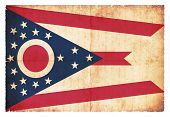 Grunge Flag Of Ohio (usa)