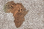 Abstract background of the African