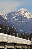 Alpini's bridge in Belluno, Italy