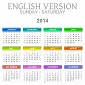 2014 Calendar English Version Sun � Sat